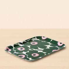 Marimekko Unikko Green / Pink Small Tray - Marimekko Kitchen Accessories