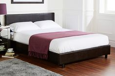 Faux Leather Bed & Memory Foam Mattress - 3 Colours!