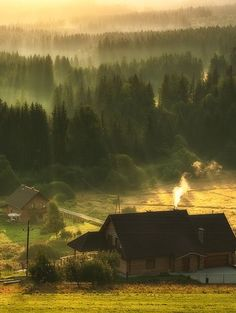 Morning in the Beskydy Mountains # Poland