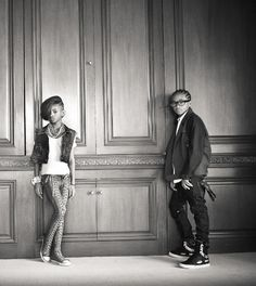 Jaden and Willow Smith. <3 the pose
