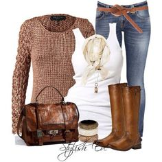 Love the outfit- but LOVEE the that sweater