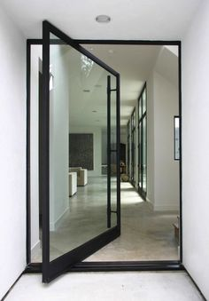 luxurious house door design swing glass door modern house ceiling lamps white wall sofa house interior of 25 Awesome Luxurious House Door Design Ideas to Try Interior Architecture, Interior And Exterior, Interior Doors, Room Interior, Australian Architecture, Building Architecture, Modern Interior, Interior Office, Kitchen Interior