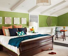 Infuse your home with rich color and unique art! Find more ideas here: http://www.bhg.com/decorating/makeovers/before-and-after/before-and-after-decorating/?socsrc=bhgpin091514colorinfusion&page=7