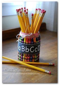 ABC crayon jar - Scrapbook.com