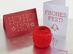 DIY Weihnachts-Grußkarten // christmas cards by DaWanda via DaWanda.com