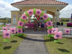 #balloons very cute party balloon arches. I need to learn how to make these.