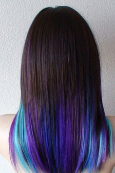 30 Rainbow Hair Looks For Brunettes