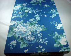 Caixa Retangular Primavera Azul  www.munayartes.com.br