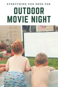 An outdoor movie night can be a fun, easy and cheap way to host friends and family without much fuss | the INSPIRED home