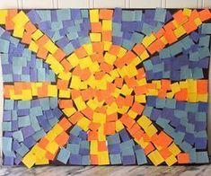 mosaic art for kids - mosaic sun and sky