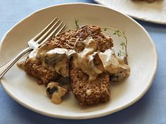 Meatless Meatloaf with Mushroom Gravy recipe from Food Network Kitchen via Food Network