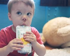 Kabrita is a great solution for Chelsea's toddler (Sidekick) who suffers from cow milk intolerance. This #KabritaKid loves Kabrita Goat Milk Yogurt and Fruit!