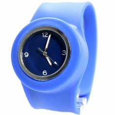 >> Click to Buy << FW730B PNP Shiny Silver Watchcase Silicone Blue Band Boy Girl SNAP Fashion Watch #Affiliate