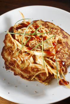The Chubby Vegetarian: The Lime Truck's Corn Cake with BBQ Slaw