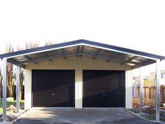 carport plus garage Carport Sheds, Carport Patio, Carport Garage, Shop Buildings, Steel Buildings, Shed Builders, Studio Shed, Carport Designs, Shed Kits