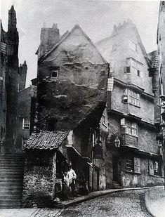 1866 medieval Steep Street from the junction with Trenchar… | Flickr