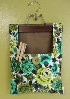 Clothes Pin Bag by OnceAgainVintageShop on Etsy, $18.00