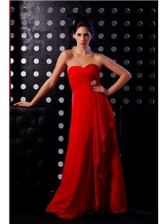 Elegant A-line Strapless Cathedral Empire Evening Dress