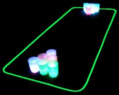 Light Up Beer Pong Kit from GlowCity on Etsy. Saved to Drink Drank Drunk Don't Drive. Glow Stick Party, Glow Sticks, Beer Tasting Parties, Drinking Games For Parties, Beer Pong Tables, Beer Cooler, Beer Fest, Neon, Light Up
