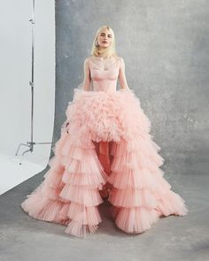 """Reminiscent of gowns from times past, this style from Sagaza's """"Reborn"""" collection embodies modern elegance Prom Dress Couture, Rococo Fashion, Pink Tulle, Tulle Dress, Couture Fashion, Women's Fashion, Fashion Design, Dream Dress, Playing Dress Up"""