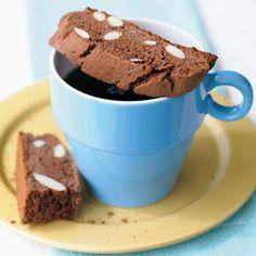 Cocoa-Almond Biscotti.