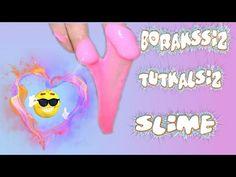 Borakssız ve Tutkalsız Slime Yapımı Kabartma tozu ile slime yaptım - YouTube