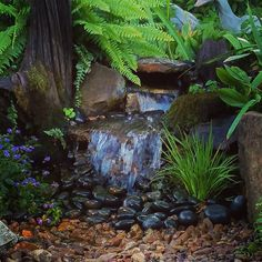 A 'Serenity Waterfall'. One of my favorite small Pondless Waterfalls. Come by Carters Nursery Pond & Patio and see our displays.