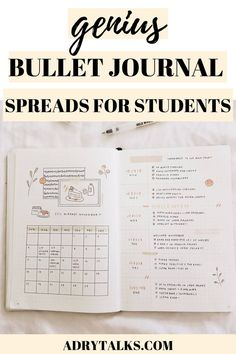 These bullet journal spreads for students are perfect to keep your assignments, courses, finances, and more organized during college! Bullet Journal School, Bullet Journal Writing, Bullet Journal Aesthetic, Bullet Journal How To Start A, Bullet Journal Spread, Bullet Journal Themes, Bullet Journal Inspiration, Bullet Journal Essential Pages, Bullet Journal Assignment Tracker