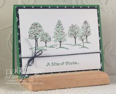 Debbie's Designs: Thumping Technique & New Video using Stampin' Up! Lovely As A Tree. Debbie Henderson #debbiehenderson #debbiesdesigns #stampinup #lovelyasatree #thumping #technique