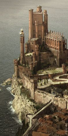 A castel for all the people in the world Chateau Medieval, Medieval Castle, Beautiful Castles, Beautiful Places, Chateau Moyen Age, Photo Chateau, Game Of Thrones Art, Game Of Thrones Castles, King's Landing