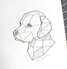 53 Best ideas for origami tattoo dog tatoo Origami Tattoo, Pencil Art Drawings, Art Drawings Sketches, Animal Drawings, Cool Drawings, Tattoo Drawings, Geometric Dog, Geometric Drawing, Geometric Tattoos