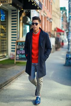 Blue brogues #streetstyle