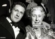 26th November 1962, English crime writer Agatha Christie with her grandson Matthew Pritchard, who she had bequethed the royalties of her play 'The Mousetrap'