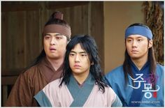 "Jumong (Hangul: 삼한지-주몽 편; hanja: 三韓志-朱蒙篇주몽; RR: Samhanji-Jumong Pyeon; lit. ""The Book of the Three Hans: The Chapter of Jumong"") is a South Korean historical period drama series that aired on MBC from 2006 to 2007. The series examines the life of Jumong, founder of the kingdom of Goguryeo. Few details have been found in the historical record about Jumong, so much of the series is fictionalized.  유리"