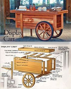 Display Cart Plans - Outdoor Plans and Projects | http://WoodArchivist.com