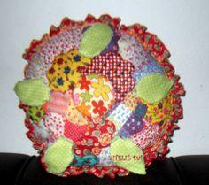 Almofada retalhos de flores