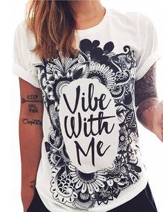 Women's Round collar short sleeve Graphic Digital Printing Top Tee T-shirt - T-shirts - Women