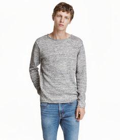 Knit Sweater | Gray melange | Men | H&M US