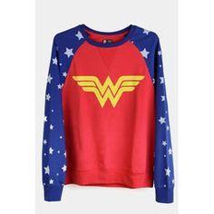 Moletom Oficial Wonder Woman BandUp! - Vermelho+Azul