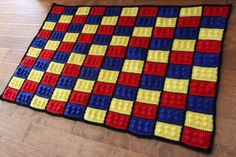 Child's Lego Afghan, I want to make this one.
