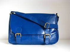 Leather Vintage Style Satchel  by The Leather Store  £85
