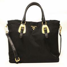 prada black tessuto nylon bomber shopping travel tote bag