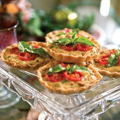 Prosciutto, Tomato, and Ricotta Tarts