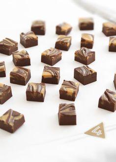 Four Ingredient Chocolate Peanut Butter Swirl Fudge Recipe