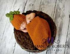 Tiny Newborn Pumpkin Set by LittleWoolyNoggins on Etsy, $38.00