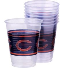 Chicago Bears Plastic Cups 25ct