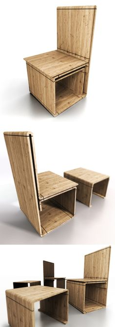 LAP chair.  With an easy interpretation the object develops by a continuous drawing where the chair's material presents a line absent of interruptions, answering to the structurally and constructively needs of the act to sit.    With the assumption of the principles of series and massive production we can have a design chair production with a small cost.