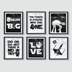 Star Wars Bedroom, Star Wars Nursery, Nursery Art, Science Bedroom, Millenium Falcon, Personalized Invitations, Nursery Neutral, Star Wars Art, Gender Neutral