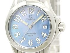 Polished #OMEGA Seamaster 120M MOP Dial Ladies Watch 2581.70 2581.88 (BF107621): #eLADY global offers free shipping worldwide. For more pre-owned luxury brand items, visit http://global.elady.com