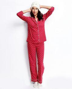 Love, Hanna Pima Cotton PJ Set | Women Sleepwear And Lounge